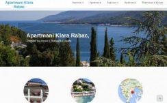 Apartmani Klara Rabac – Dizajn web stranice, Višejezični CMS sustav, optimizacija, booking sustav