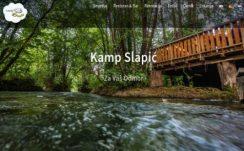 Kamp Slapić – Dizajn web stranice, Višejezični CMS sustav, optimizacija,