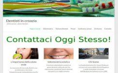 Dentisti in Zagabria – Dizajn web stranice, Višejezični CMS sustav, optimizacija,